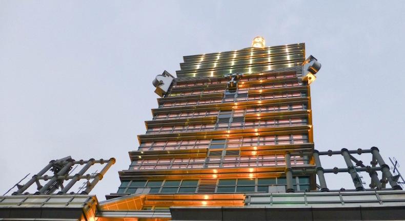 Шпиль Taipei 101 в Тайбее (Тайвань)