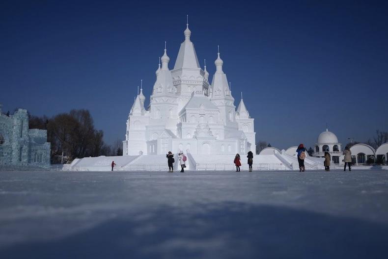 фестиваль льда в Китае