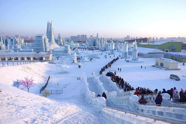 Ледяной фестиваль в Китае