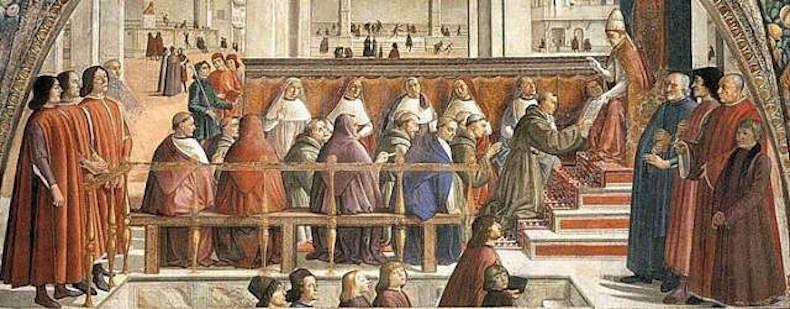 фреска в церкви Санта-Тринита, Флоренция