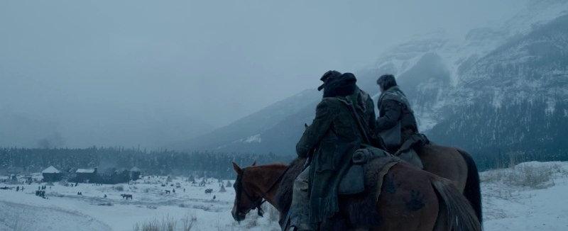 """Эта сцена из фильма """"Выживший"""" снята на дороге Спрей-Лейкс-Роуд (Spray Lakes Road), на заднем фоне гора Mount Ishbel и вулкан Castle Rock, источник фото:   20th Century Fox"""