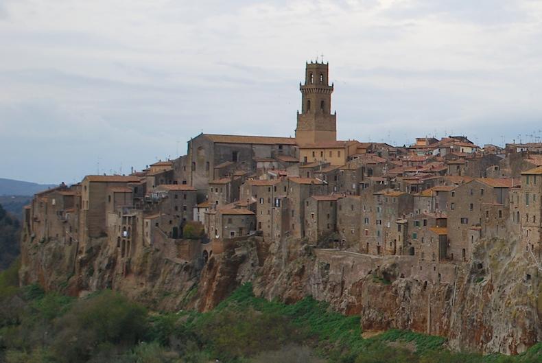 город Питильяно, Италия, Тоскана