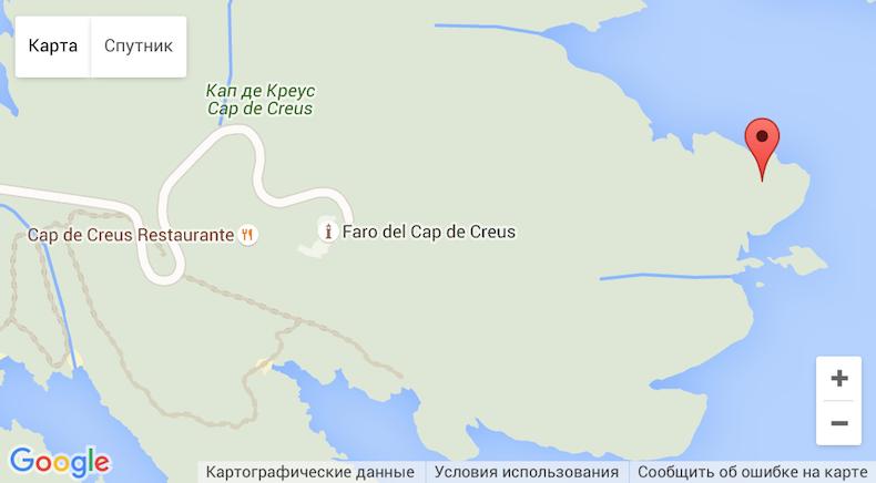 Map Cap de Creus