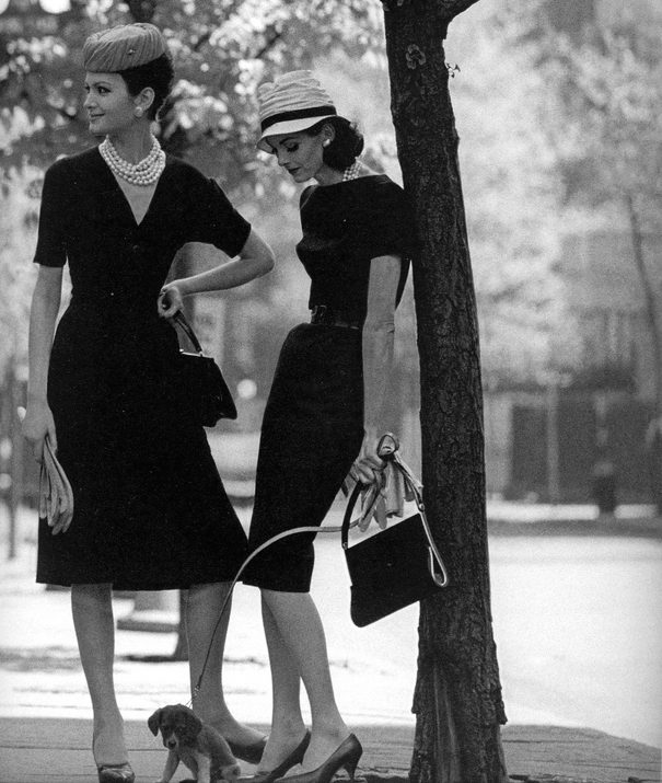 "Isabella and Anne St. Marie, Gramercy Park, New York, 1959  From the book ""Women Then: Jerry Schatzberg 1954-1969"""