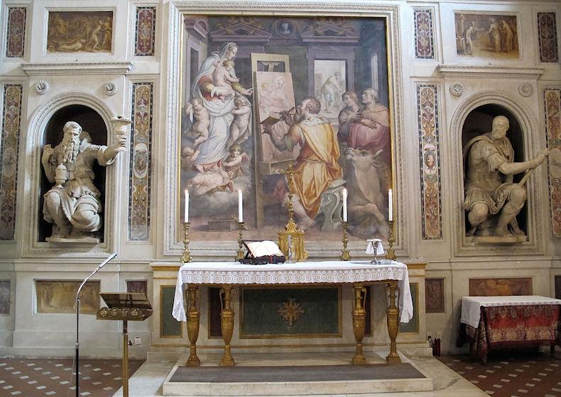 1280px-Cappella_della_compagnia_di_s._luca,_int,_altare,_s._luca_che_dipinge_la_madonna_di_vasari_01