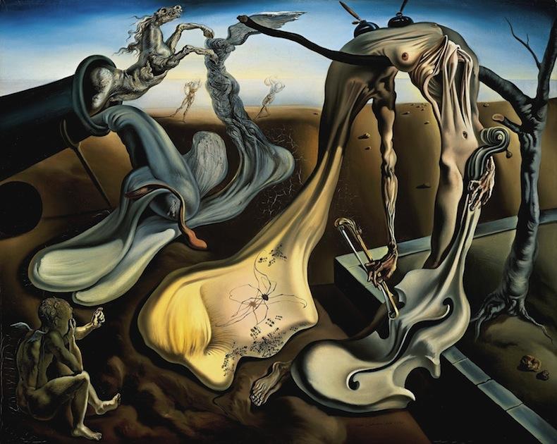 """Вечерний паук сулит надежду!"" Сальвадор Дали (1940 г)"