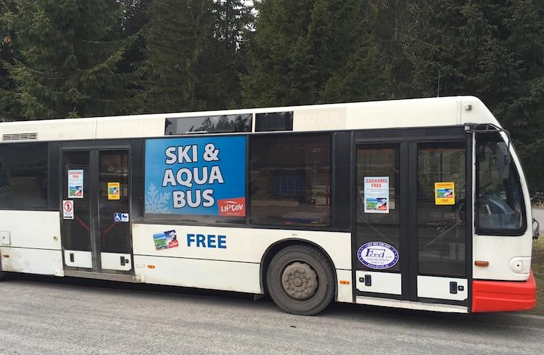 автобус для горнолыжников в Словакии