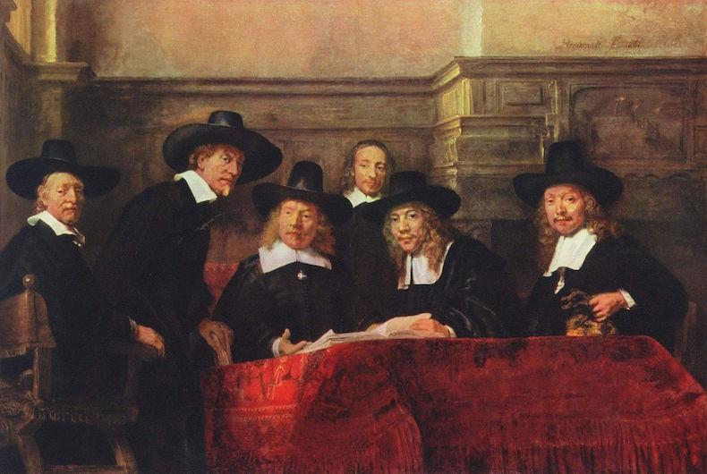 Синдики, Рембрандт 1662 год