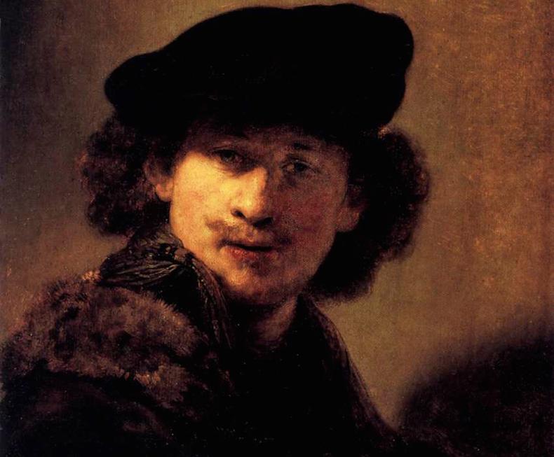 Автопортрет Рембрандта в молодости 1634 год