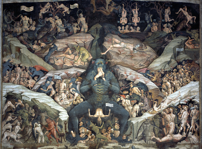 фреска собора Болоньи, Люцифер
