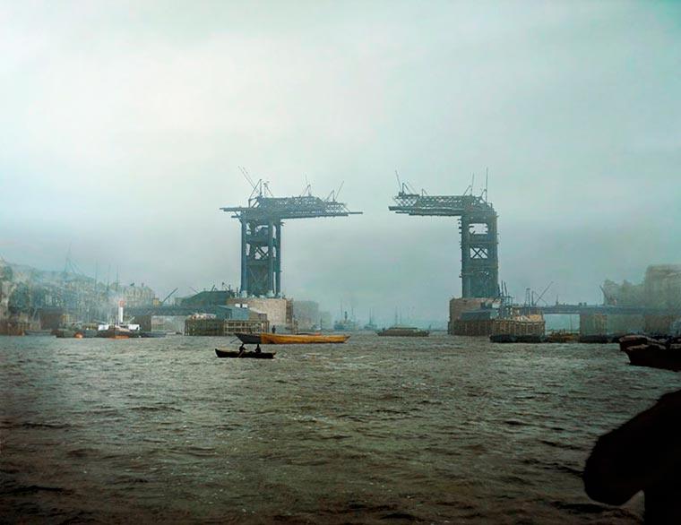 строительство тауэрского моста в Лондоне