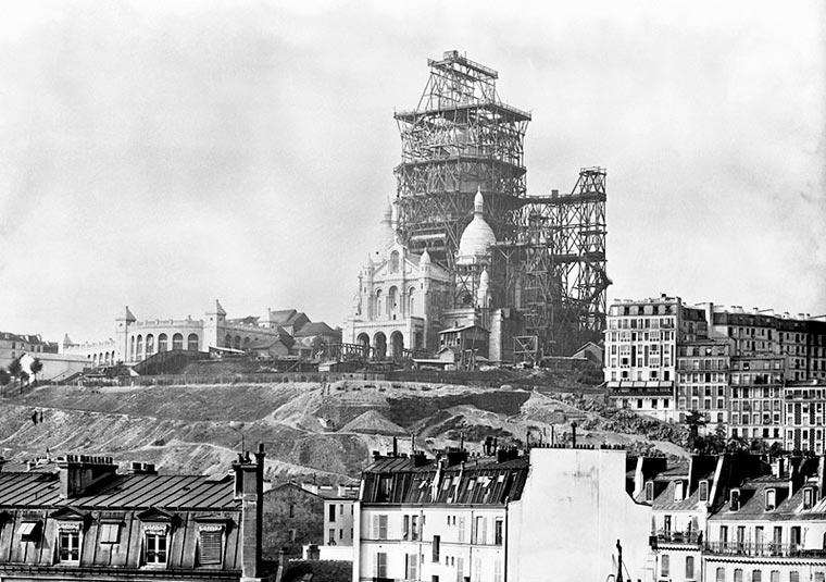 строительство базилики Сакре-Кёр на Монмартре