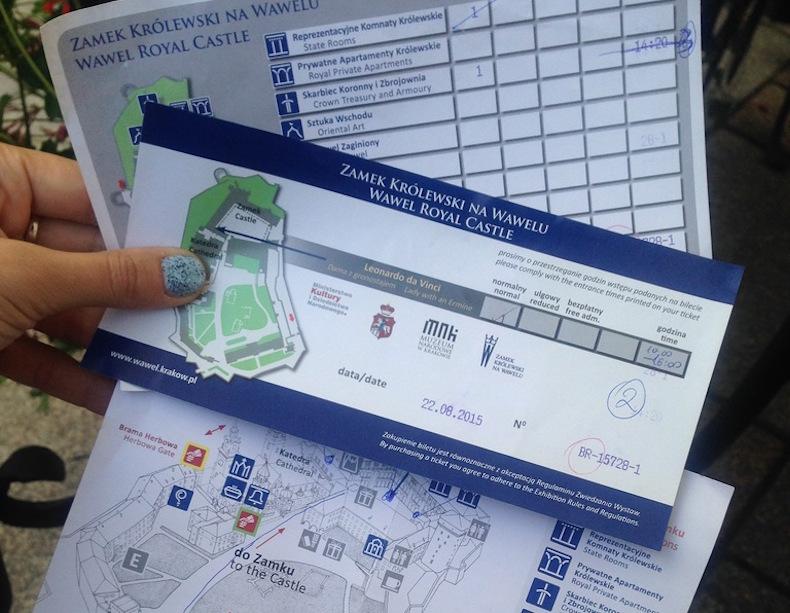 билеты для посещения замка ВАВЕЛЬ (WAWEL CASTL)