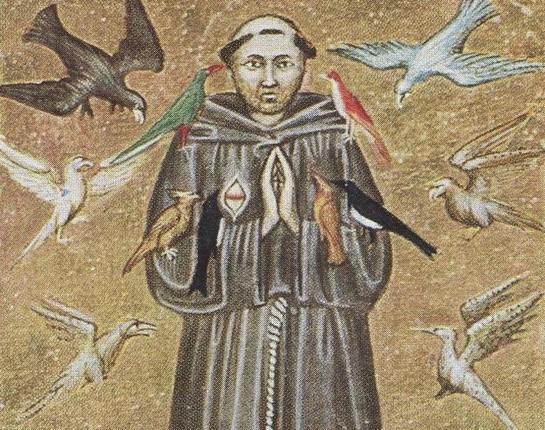 Францизск Ассизский Франциск Ассизский. Миниатюра XIV века. Национальная библиотека (Рим).