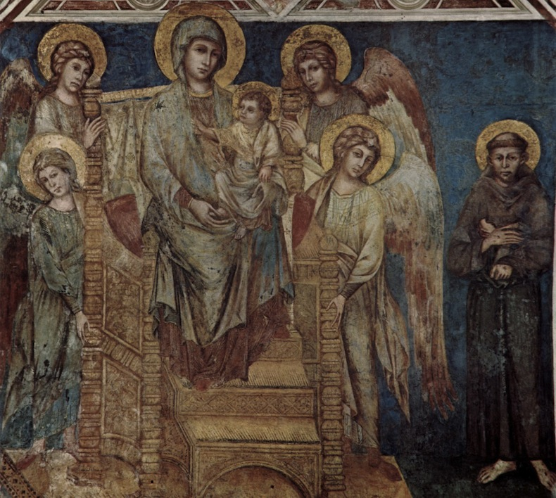 Чимабуэ: Мадонна с Младенцем с ангелами и св. Франциском Cimabue Madonna con il bambino tra angeli con san Francesco