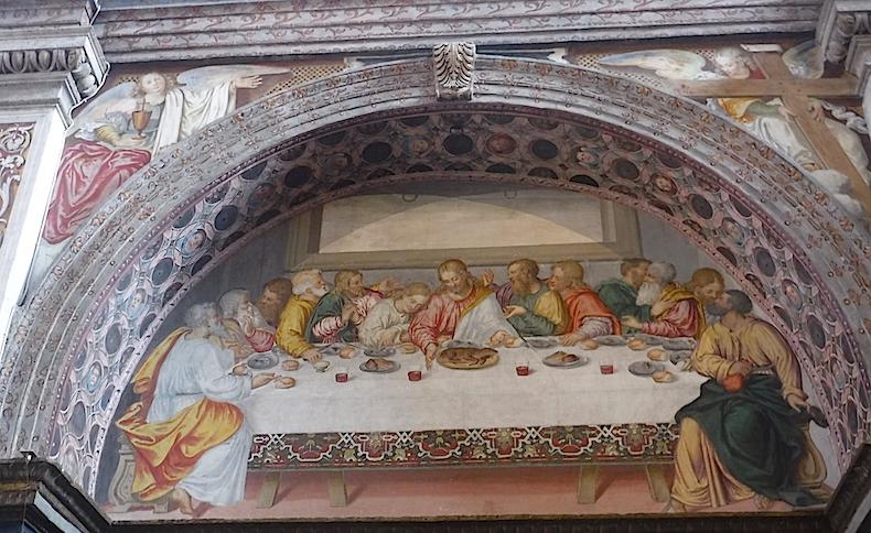 фреска тайная вечеря и в базилике Сан-Маурицио