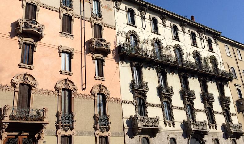 фасад домов Via Carlo Pisacane, Милан