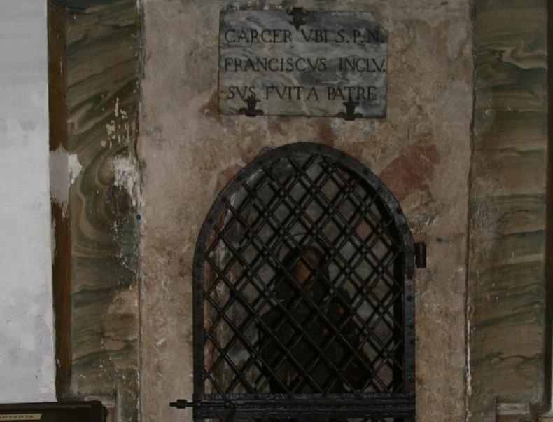 Место заключения св. Франциска