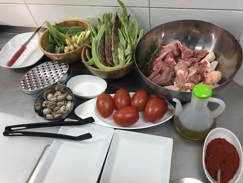 ингредиенты для приготовления паэльи