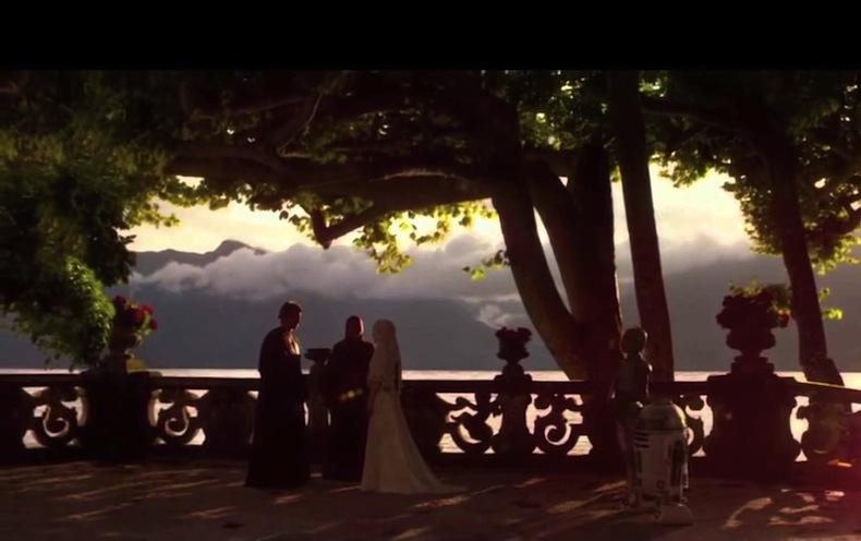 """Свадьба ЭнакинСкайуокер и Падме Амидала, """"Звездные войны: Атака клонов"""""""