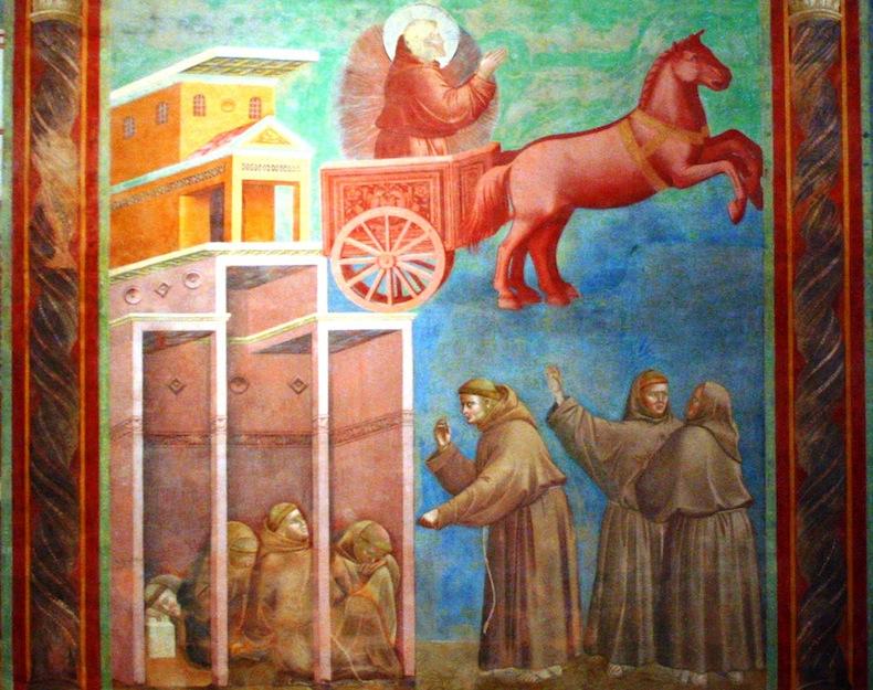 Найти фото I frati vedono san Francesco sul carro di fuoco / Монахи видят св. Франциска на огненной колеснице