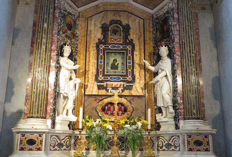 византийская икона в соборе Сполето