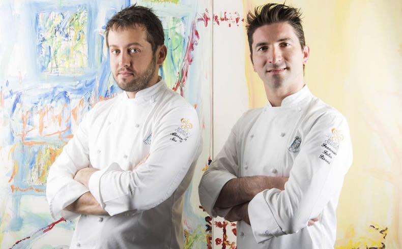 шефы ресторана Алессандро Негрини (слева) и Фабио Пизани (справа)