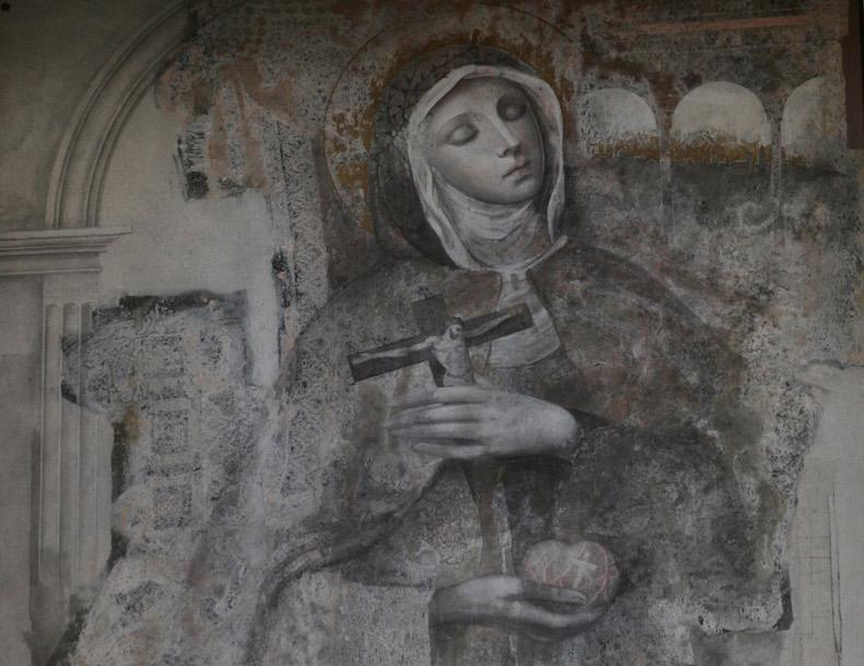 фреска с изображением Святой Вероники Джулиани - покровительницы фотографов.