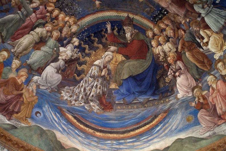 """На фото: фреска Филиппо Липпи """"Коронация Девы Марии"""""""