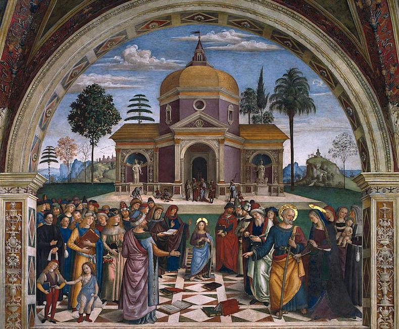 диспут Иисуса с докторами (Disputa nel Tempio) 800px-Pinturicchio_Spello_Among_doctors