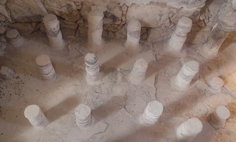 структура подогреваемого пола в банях царя Ирода