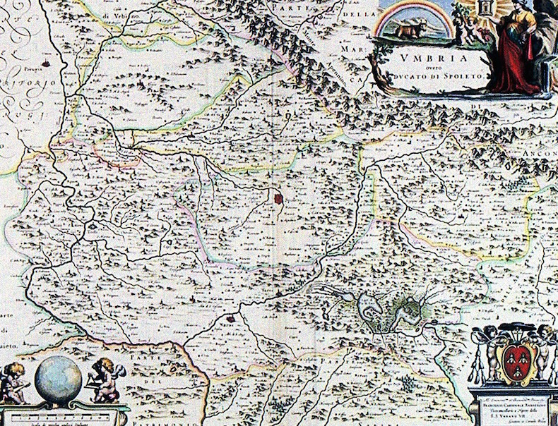 карта Сполетского герцогства