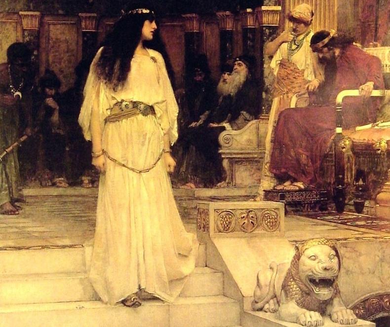Мариамна покидает суд Ирода (Джон Уотерхаус, 1887 год)