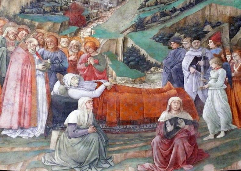 Фреска Похороны Богородицы Филиппо Липпи