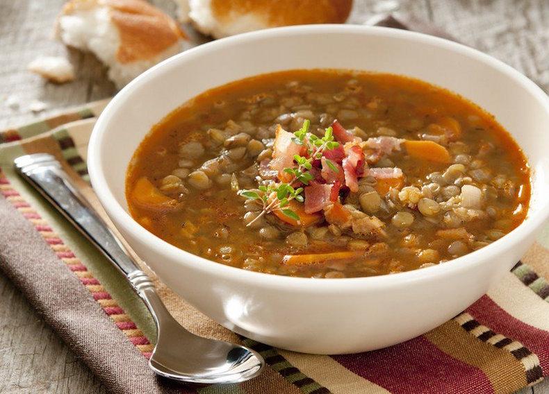 традиционный умбрийский чечевичный суп