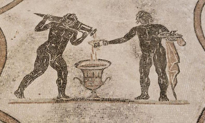 напольная мозаика в римском доме