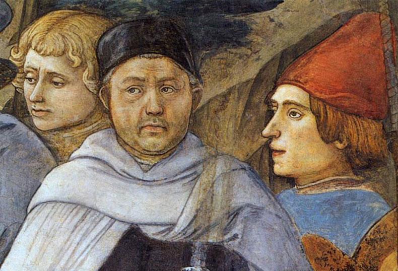 Портрет Фра Филиппо Липпи на Фреске