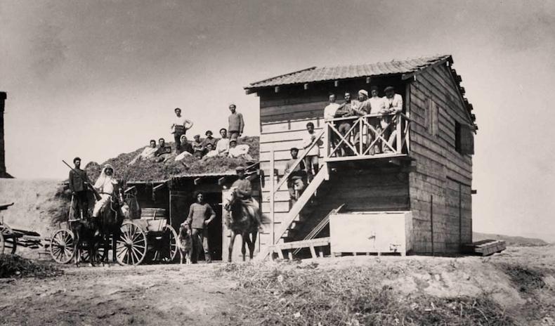 первый сарай, построенный в Degania