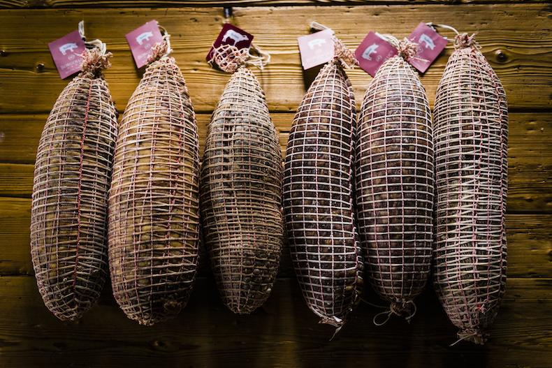 салями производства семейства Borgoluce