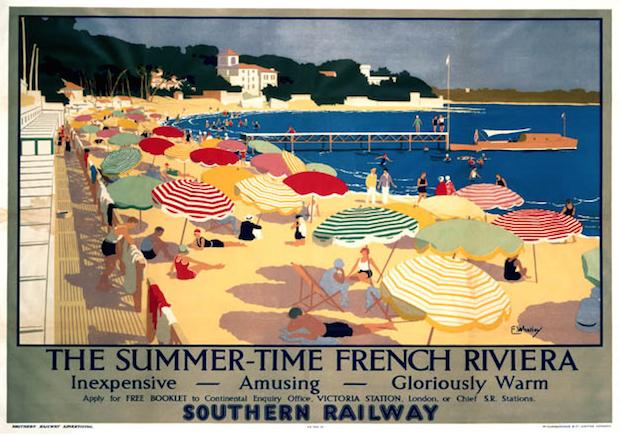рекламный постер, французская ривьера