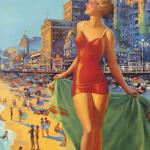 Пляж-винтаж: 10 занятных постеров прошлого, рекламирующих пляжный отдых