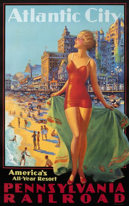 винтажный плакат Атлантик Сити