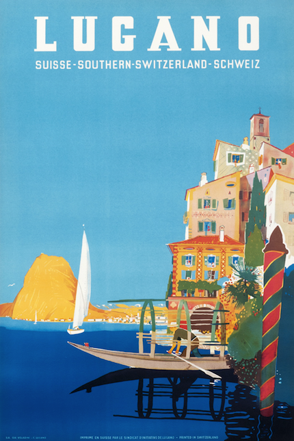 рекламный плакат Тичино Локарно