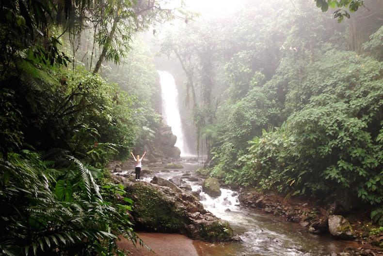 водопад Templo Ла Пас Коста-Рика