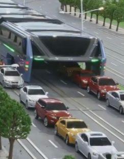 Transit-Elevated-Bus-straddling-bus-photo