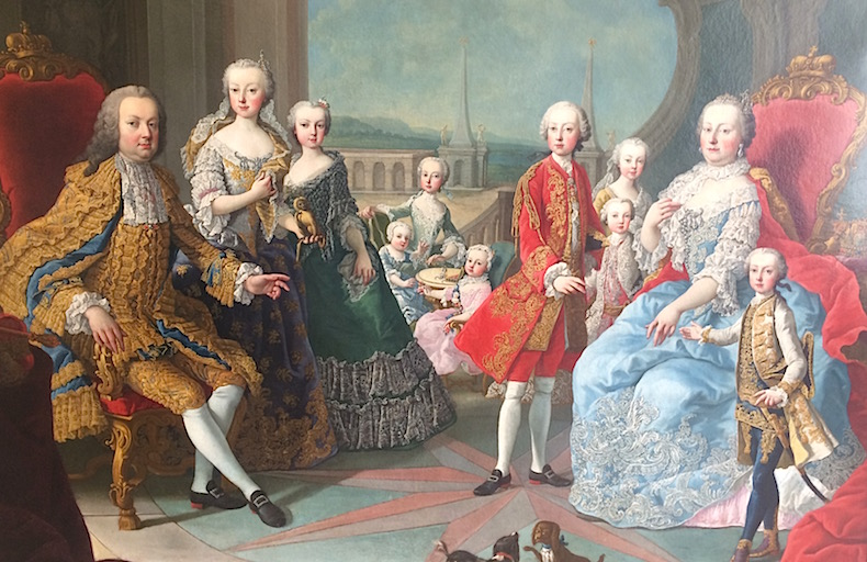 семья Марии Терезии во дворце Инсбрука