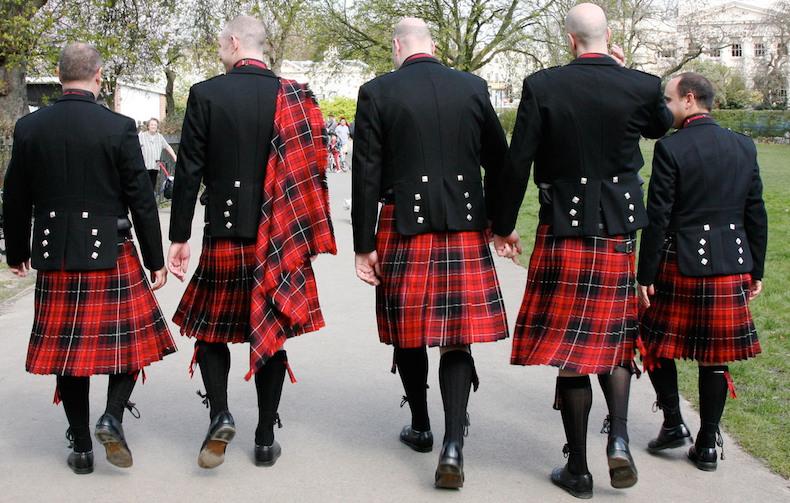 шотландский национальный костюм