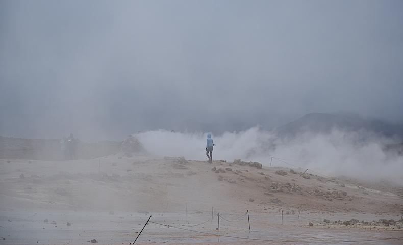 геотермальная зона Намафьель (Námafjall), долина Хверир (Hverir) Исландия, гейзеры