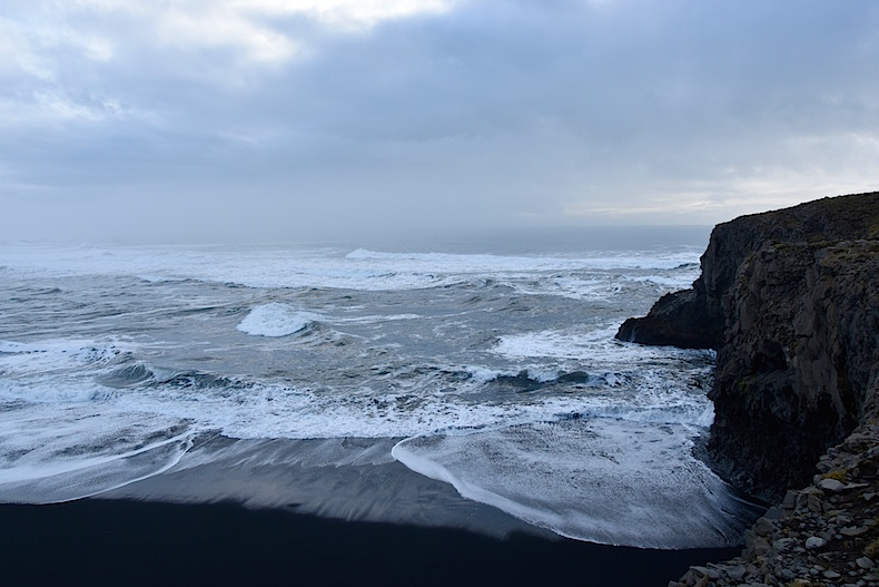 пляжи Вик, Исландия, море, океан