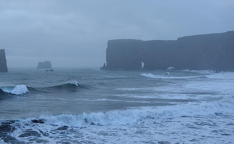Dyrhólaey, пляжи Вик, Исландия, море, океан
